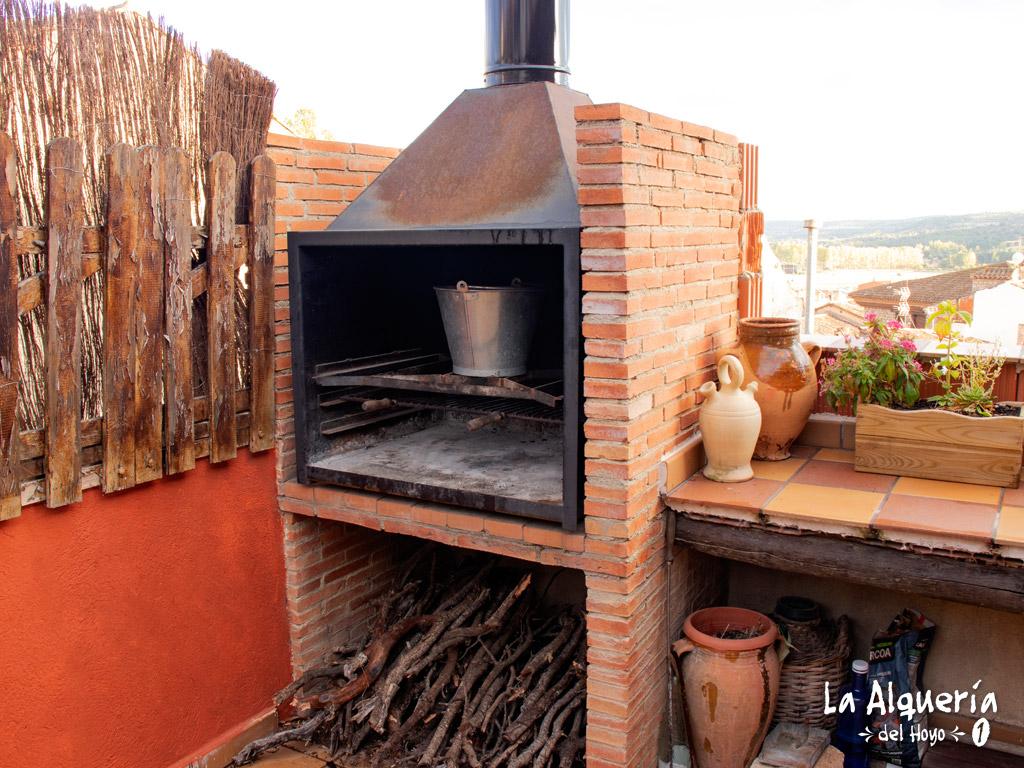 casa rural cuenca la alqueria del hoyo 1 barbacoa