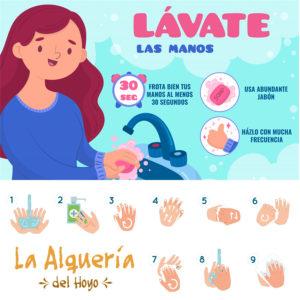 Consejos de nuestra Casa Rural para la correcta limpieza de manos