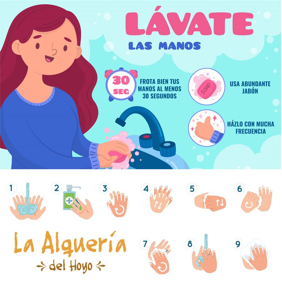 casa rural consejos para la correcta limpieza de manos