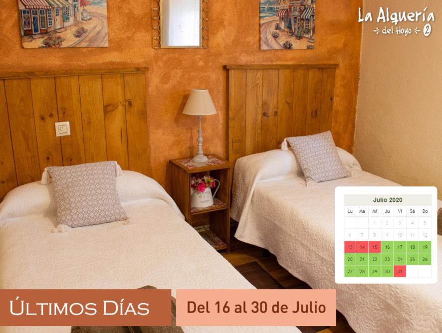 Últimas Casas Rurales en la Serrania de Cuenca para Julio 2020